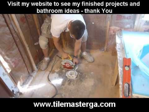 "▶ Part 1. How to replace , install walk-in tile shower drain and p-trap -- 2"" PVC pipe plumbing - YouTube"