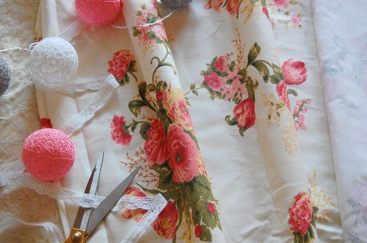 Tkanina bawełniana angielskie róże  Fabric english roses