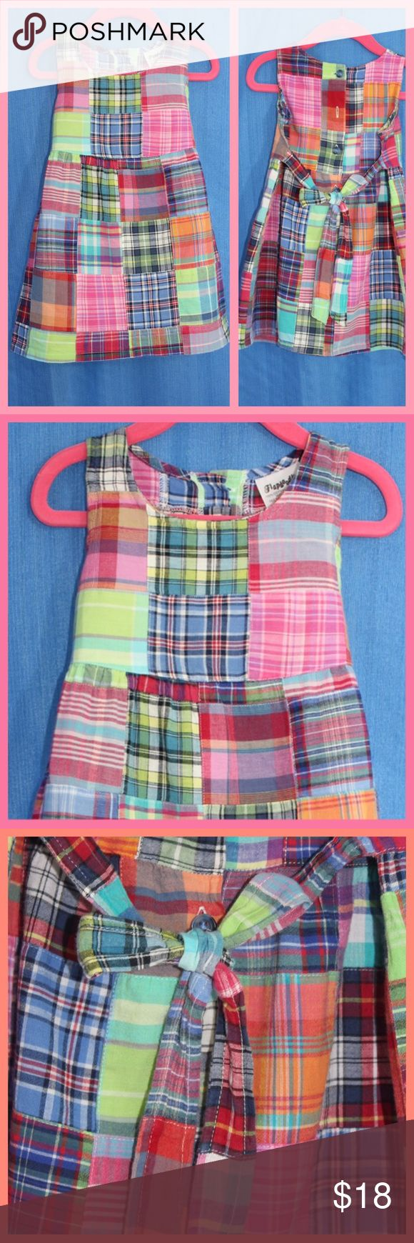 Flapdoodles Madras Patchwork Jumper, Prep Classic A Preppy Classic! Madras plaid square patchwork jumper is great for summer and can well go into Fall with a tee or blouse underneath. Flapdoodles Dresses Casual