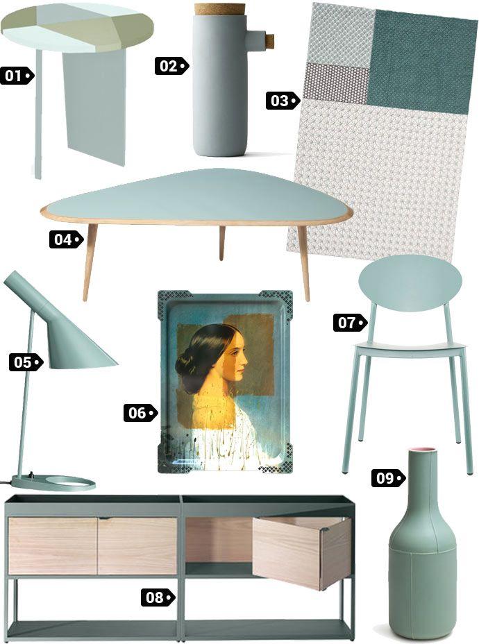 Wishlist décoration couleur vert menthe givrée wishlistdeco decoration design designer