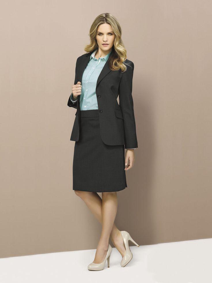 Wool Stretch Longline Jacket and Multi Pleat Skirt #bizcorporates #woolstretch #boulevard #woolsuiting