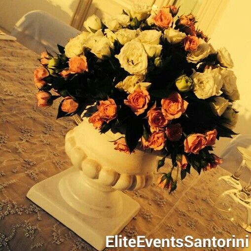 Dusty #pink #wedding for our lovely #couple #bride & #groom #bridal #table #detail #flowers #centerpiece  #Mr&Mrs #vintage #sign #eliteeventssantorini #decoration #event #planning #santorini #santoriniwedding #santoriniweddings #sneakpeek  www.eliteeventssantorini.com