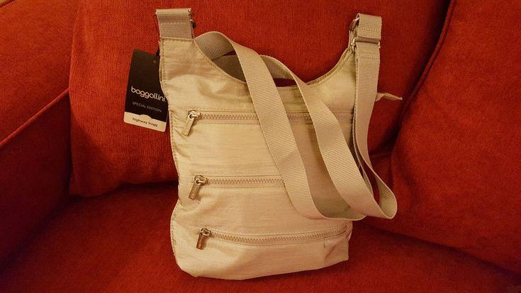 Baggallini Shoulder Silver Bag Purse New Special Edition Highway Bagg Flat #baggallini #ShoulderBag