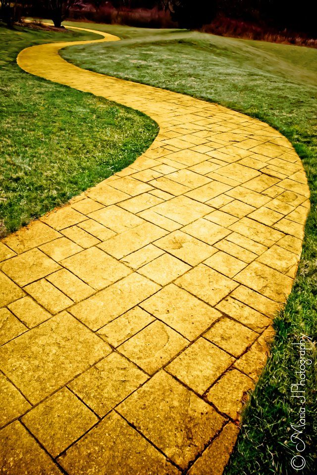 Follow the yellow brick road..