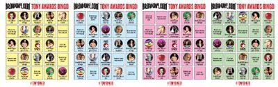 Tony Awards Bingo! Play Along at Home with the Ultimate Tony Party Game | Tony Awards 2013 | Broadway.com