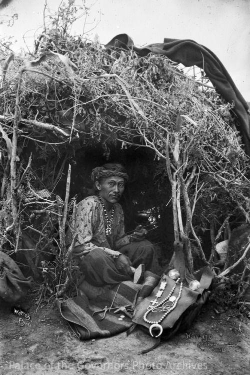 """Jake, a Navajo Silversmith at Work""Photographer: Ben WittickDate: 1880 - 1890?Negative Number 015718"