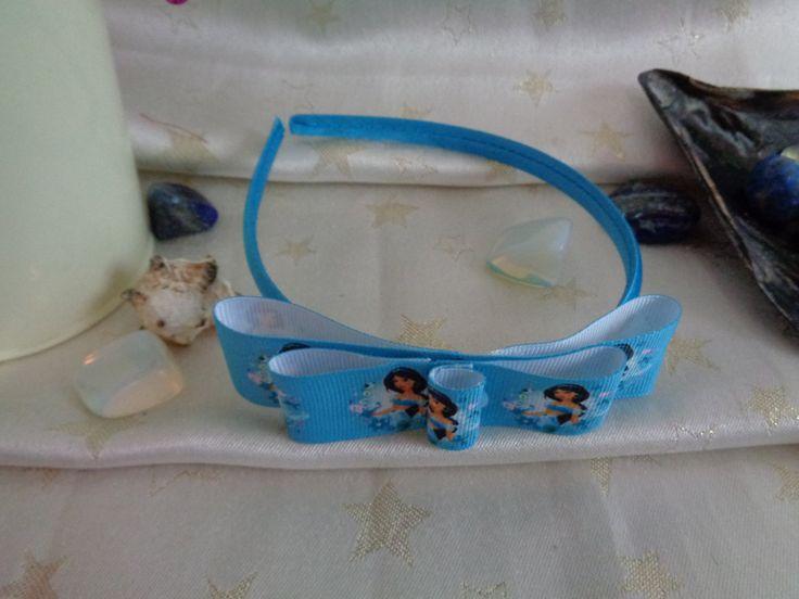 Satin headband with handmade princess Jasmine bow. by Howittsmade on Etsy