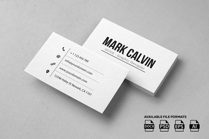 30 Simple Minimal Business Card Templates For 2019 Business Card Template Word Business Card Design Minimal Minimal Business Card