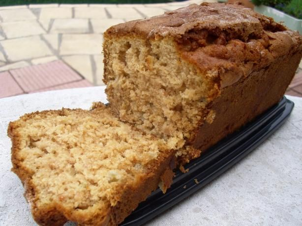 """Incredibly Moist Apple Bread - I was first introduced to this wonderful Apple Bread from a co-worker more than 20 years ago! I just recently begged her to bring me the recipe so I could make it. She said she has kept it """"posted"""" on her refrigerator for all of these years and still makes it all the time. I hope you enjoy it as much as I do."""