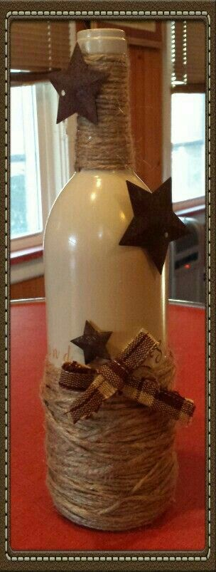 Country Wine bottle craft.