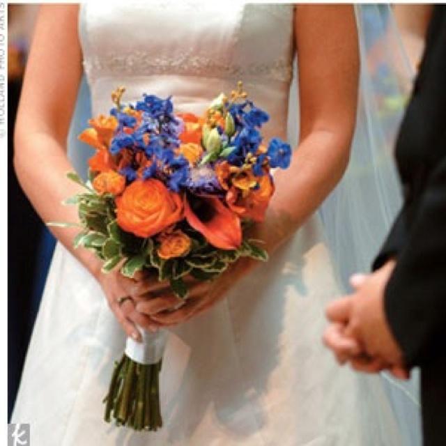 Blue Orange Bouquet