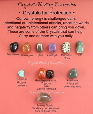 Crystal Healing for Protection: Tourmaline, Fire Agate, Jade, Pynta, Amethist, Dalmatian Stone, Turquoise, Red Jasper, Aventurin, Smokey Quartz