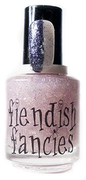 C.1-03: She's Alive! - inspired by Bride of Frankenstein, from the Baneful Betrothal charity trio for Cystic Fibrosis by Fiendish Fancies ~ 5-Free, vegan, cruelty-free Nail Lacquer hand-poured in Canada