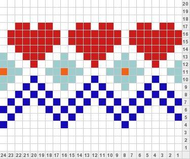 hearts n stripes knitting color chart - to all the quilters, can you see this a quilt?