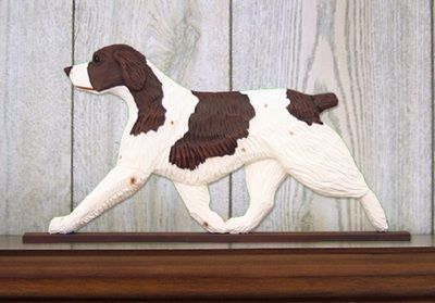 Brittany Spaniel Dog Figurine Plaque Display Wall Decoration Liver available at www.DogLoverStore.com