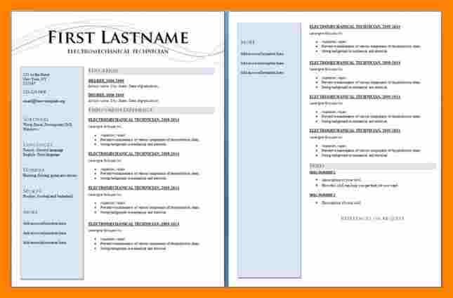 Professional 2 Page Resume Examples Downloadable Resume Template