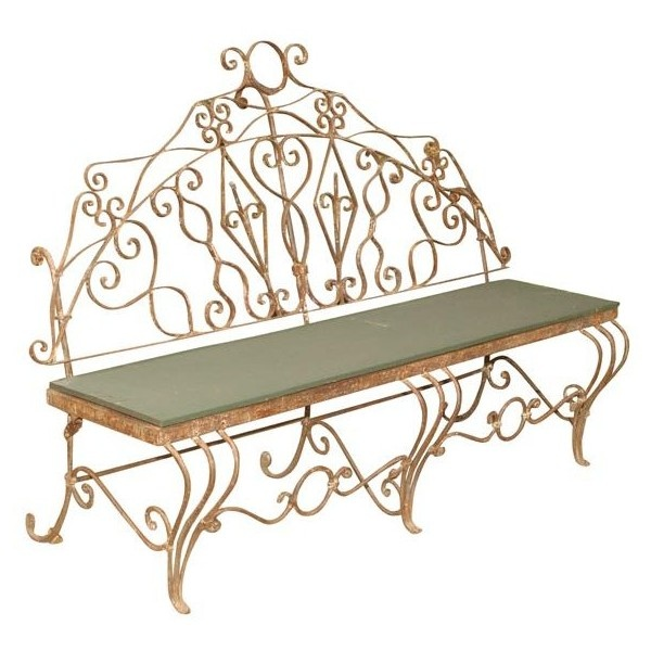 Antique Garden Furniture ❤ Liked On Polyvore