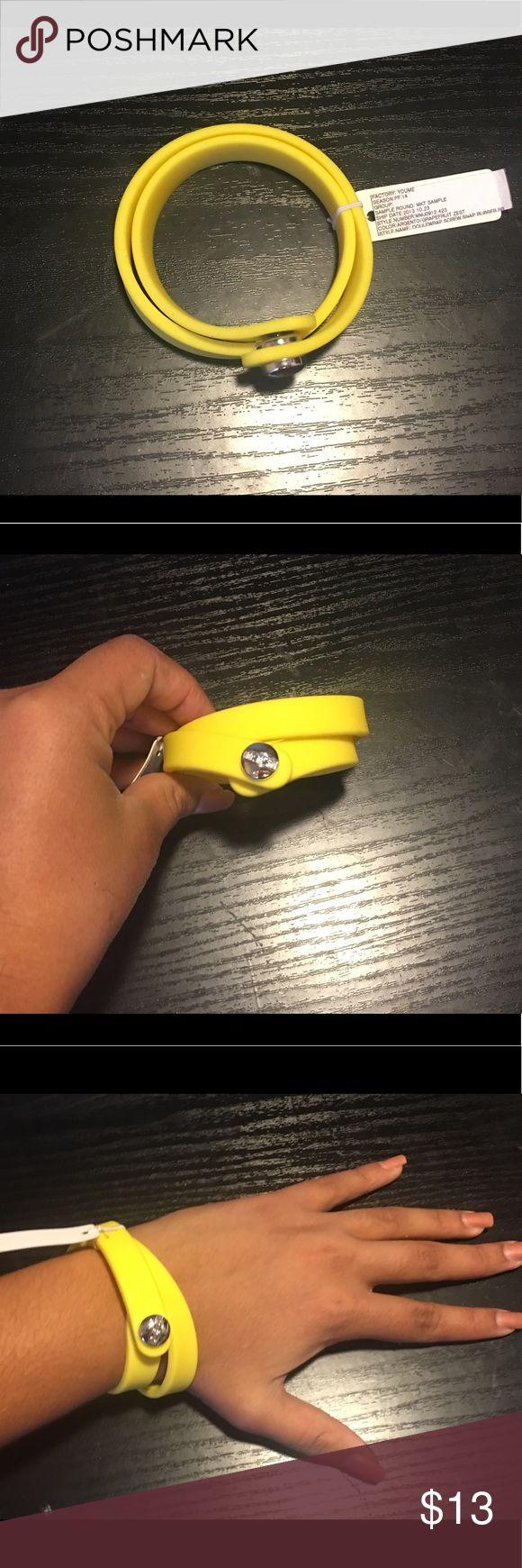Marc Jacobs Doublewrap Rubber Bracelet Cute, never worn, yellow doublewrap Rubber Bracelet Marc Jacobs Jewelry Bracelets