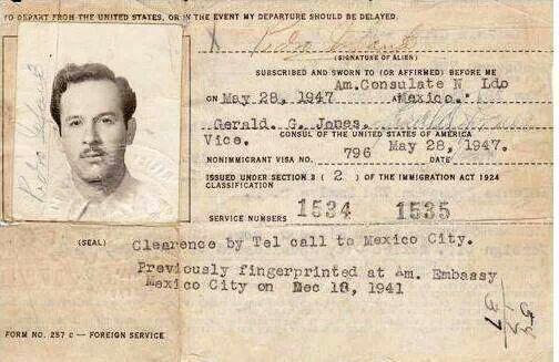 Visa de el gran Pedro Infante.