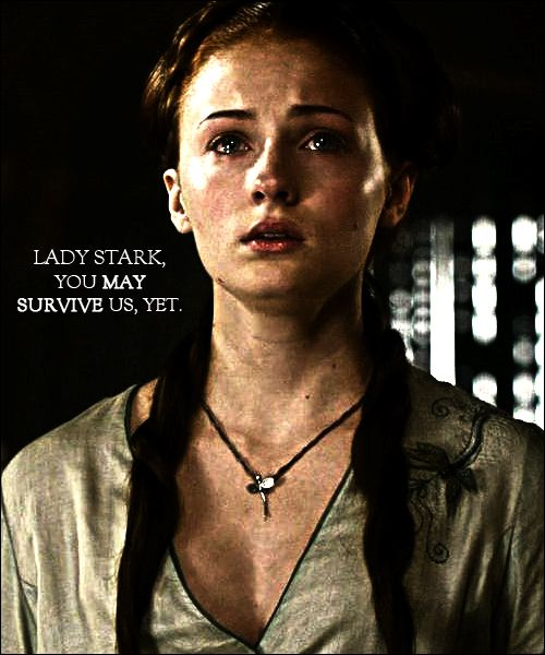 And she did. Sansa Stark for the win!