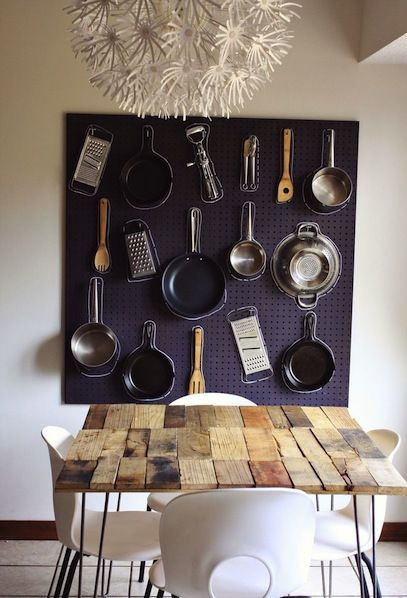 DIY - Kitchen Organizer Pegboard by A Beautiful Mess                                                       Click here to download...