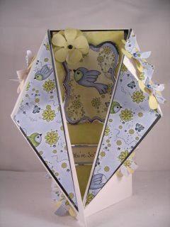 handmade card ... Fancy Tri-fold Card ... PDF template on the site ...