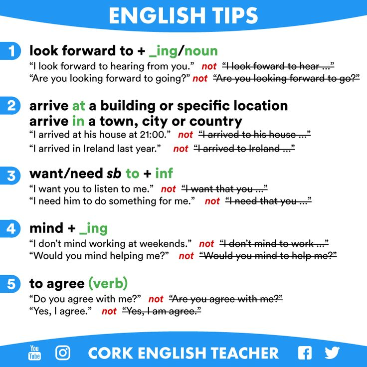 English Tips - Common Mistakes