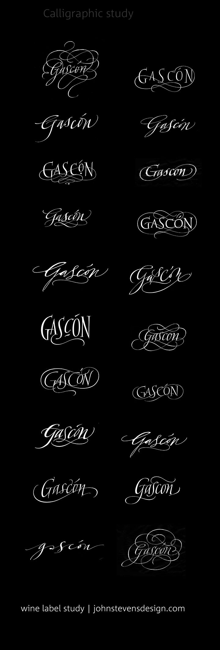 sketches of wine label name