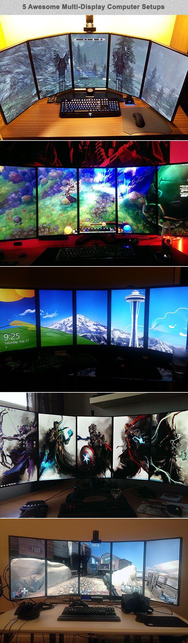 5 display computer setups
