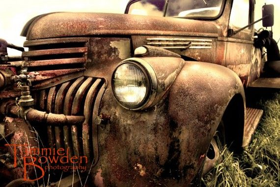 Rusty Antique Truck  Original Photograph 8x10 by TammieBowdenPhoto,