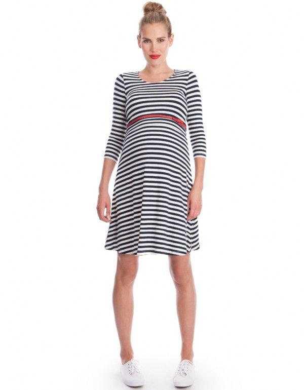 Nautical Maternity Dress