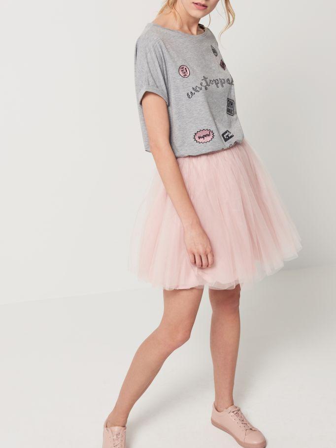 Krátká tylová sukně ATHLEISURE, MOHITO, QK900-39X