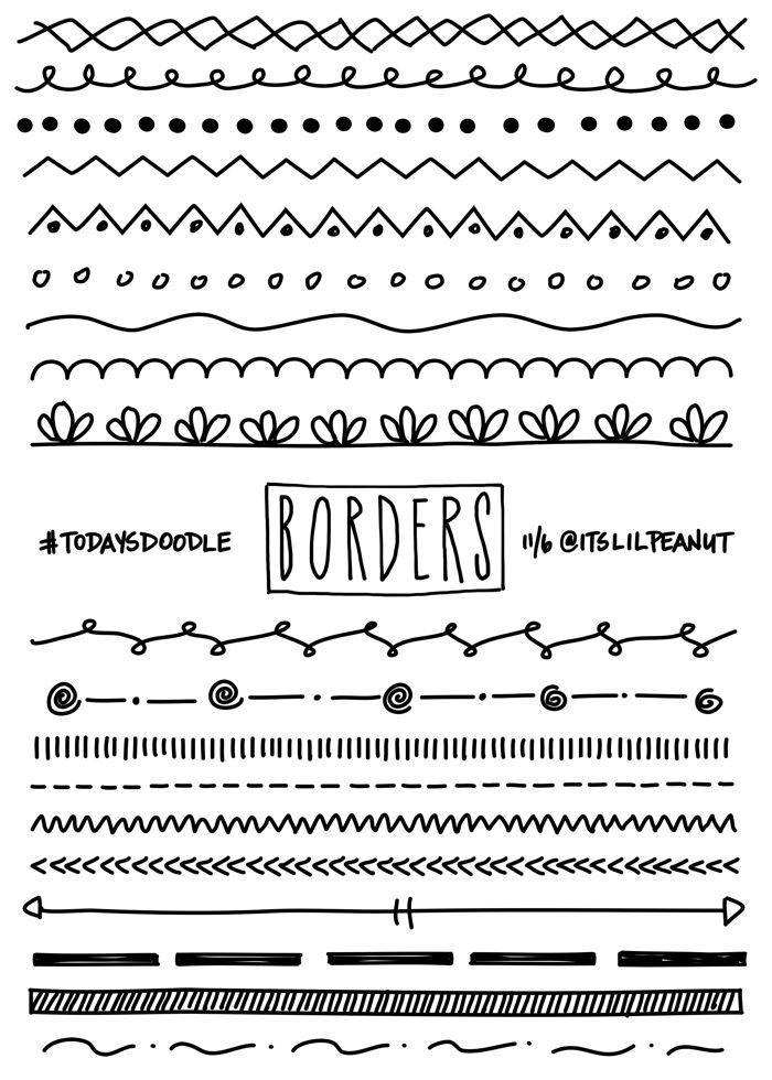 Best 25 Doodle Borders Ideas On Pinterest