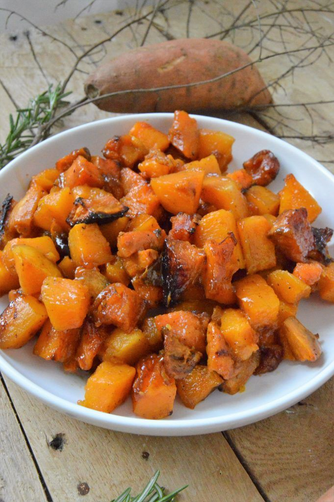 Thanksgiving favorite sides Such a lovely recipe! Cinnamon and brown sugar butternut squash and sweet potatoes #petitgourmetsd #everydaygourmet #thanksgiving2016