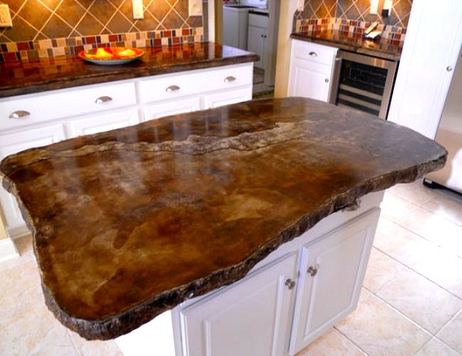 Brown countertops never looked so good - concrete countertop
