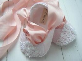 Love these!! So adorable. Let the pink-buying begin early :): Babies, Sweet, Pink Lace, Baby Girls, Ballet Shoes, Baby Ballet, Baby Shoes, Fairytale