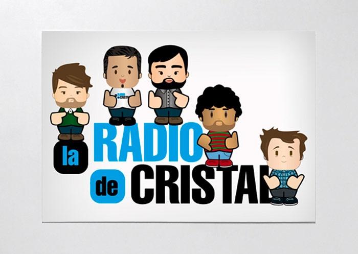 Ilustración aniversario para la promotora de conciertos La Radio de Cristal