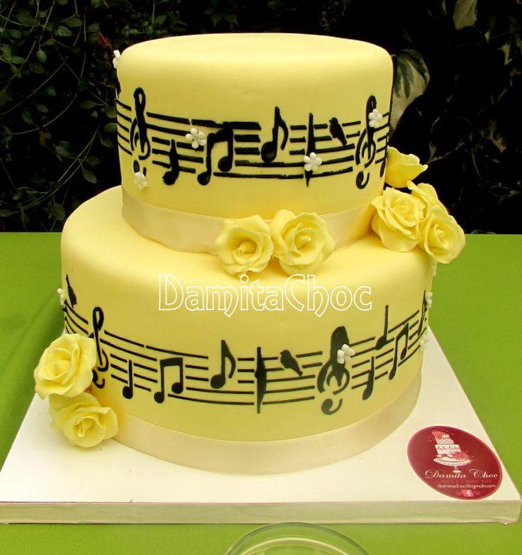 #wedding #cake #music #fondant #gumpaste