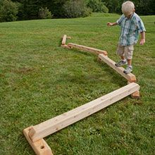 A fun outdoor balance beam with a twist