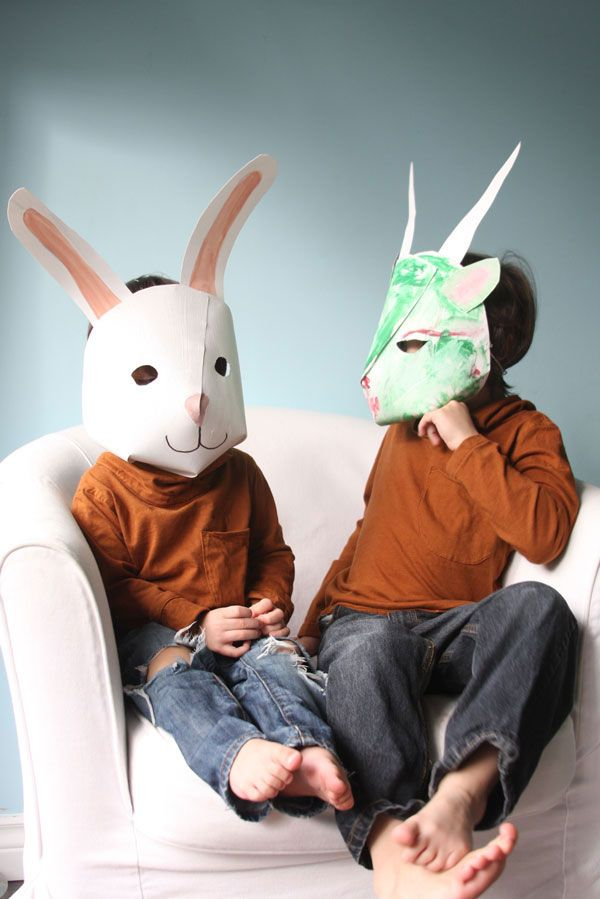 paper masks with templates