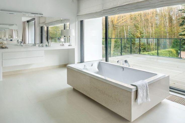 Łazienka luksusowa glamour fot. Rafał Lipski #luksus #glamour #łazienka #lazienki #luksus #luxury #wanna #bathroom #willa #interior