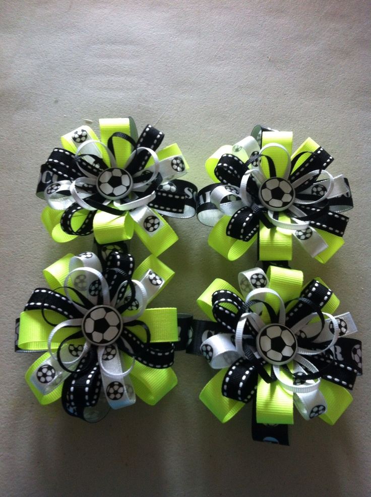 Soccer bows for the team
