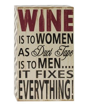 This charming wooden box sign is a perfect gift for the wine lover in your life—even if it's you!