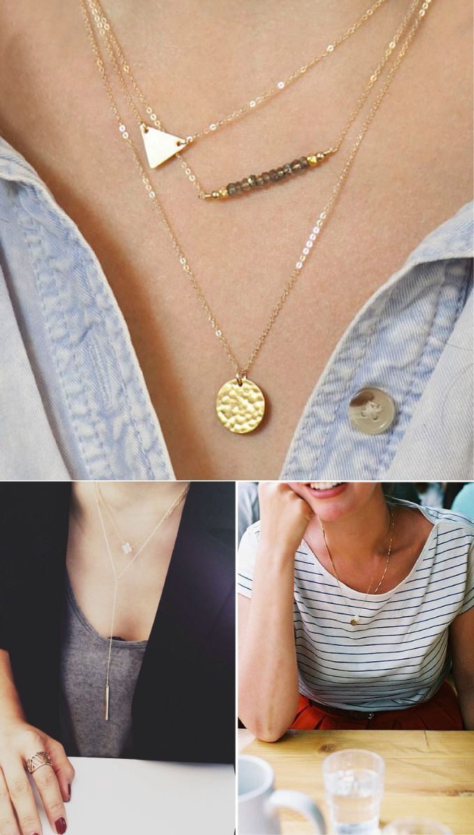 BUILDING BLOCKS: DELICATE NECKLACE | the things we didn't buythe things we didn't buy