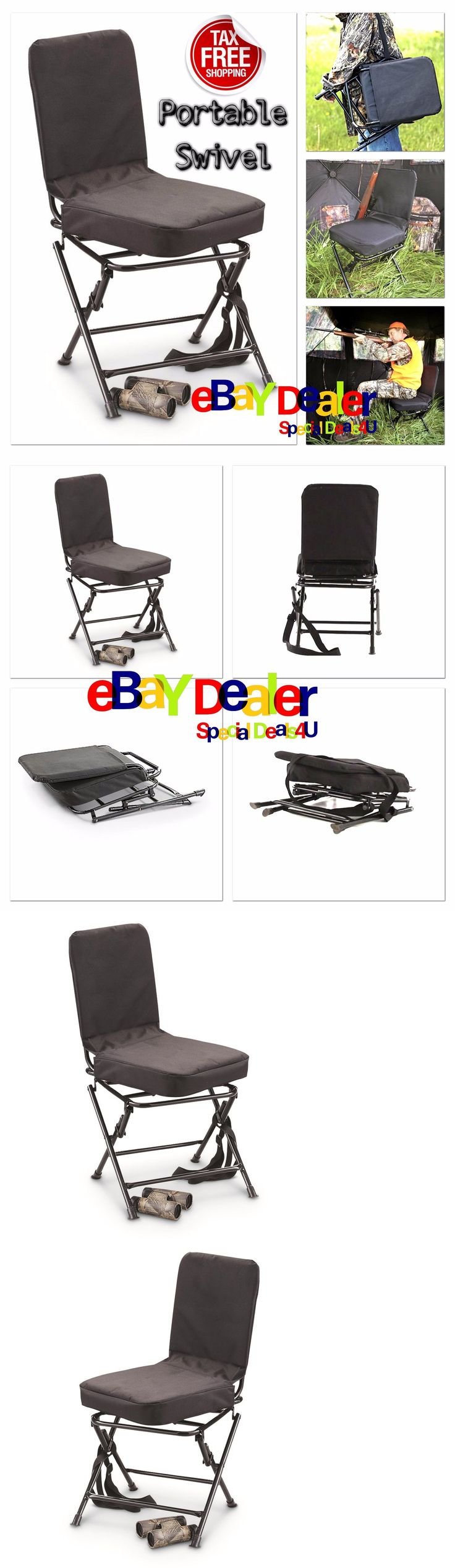 Bow hunting chair - Seats And Chairs 52507 Portable Swivel Hunting Chair Folding Deer Stool Turkey Padded Steel Carry