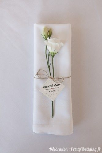 #serviette #fleurs #décoration #mariage #pretty #wedding @Pretty Wedding