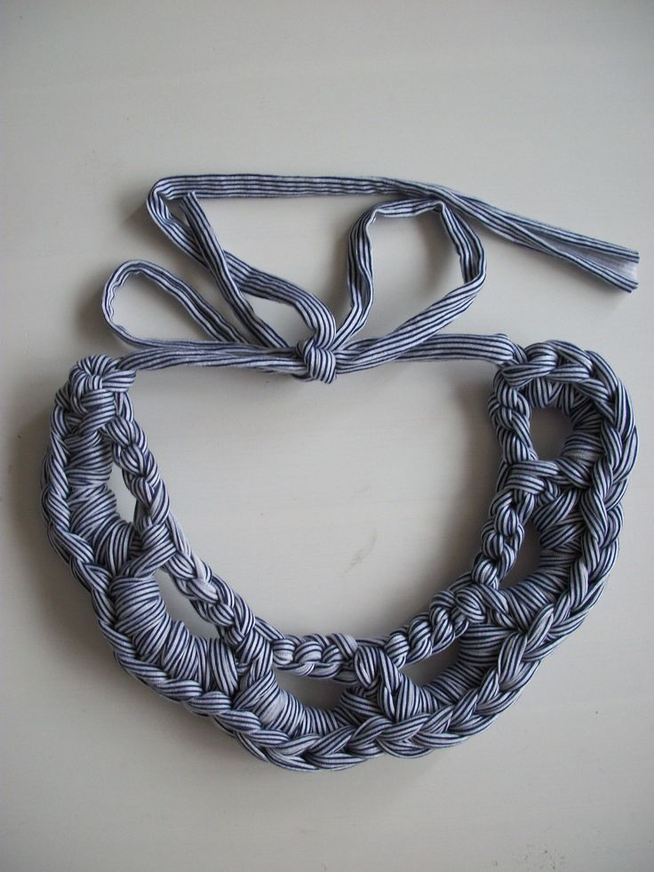 Necklace crochet - I'm not actually that crazy about this, but it could serve as inspiration for adaptation.