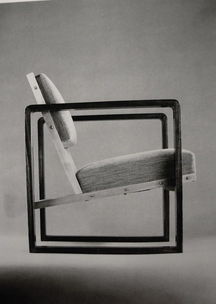 Josef Albers, 1928. Bauhaus Style.  Features clean lines and a simple form. Emphasis on straight lines and edges.