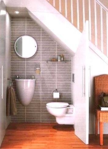 Hideaway Bath - Tight quarters but very unique hide-a-bath ;)