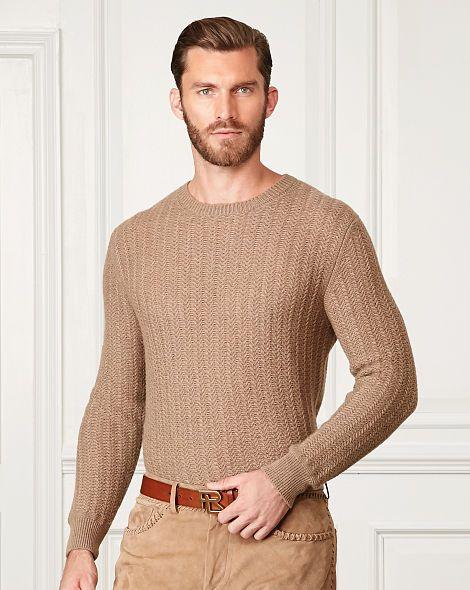 Textured Cashmere Sweater - Purple Label Cardigan \u0026 Full-Zip - RalphLauren .com